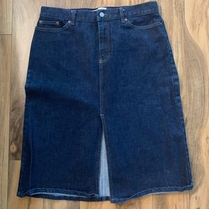 Gap denim skirt mid length. Size 12
